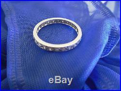 Antique/VtgPlatinum & Diamond Eternity BandSz 6 3/4Wedding/Anniversary Ring