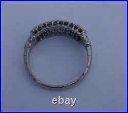 Antique diamond platinum vintage ring right-hand or wedding band 6.6mm width