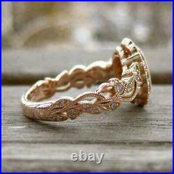 Art Deco Oval Cut Diamond Engagement Wedding Vintage Antique 925 Silver Gif Ring