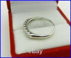 Art Deco Vintage 14k Gold Wedding Anniversary Old Cut Diamonds Band Ring