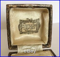 Art Deco Vintage Ladies 9ct White Gold Eternity Band Ring & Original Box