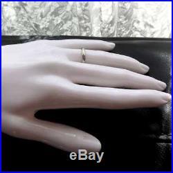Art Deco Wedding Ring Vintage Engraved Platinum Wedding Band 1920s / 1930s
