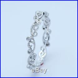 Art Nouveau Vintage Antique Diamonds Sold 14K Gold Wedding Band Estate Ring Deco