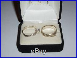 Beautiful Antique Vintage 14K Diamond Wedding Ring Set from Long Loving Marriage