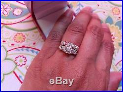Beautiful Fine Vintage Diamond 14k Engagement Wedding Ring Band Set