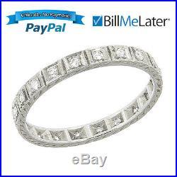 Beautiful Vintage 18kt 18 Karat White Gold Diamond Wedding Eternity Band Ring