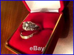 Beautiful Vintage Diamond Wedding Ring Set