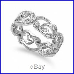 Certified 1,12CT White Round Cut Diamond Vintage Wedding Ring 14K White Gold