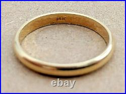 Classic Vintage Solid 14k Gold Wedding Band Size 9.5 Ring 4mm Width 3.11g