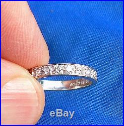 Deco White Gold Diamond Anniversary Wedding Band Vintage Designer ETERNITY ring