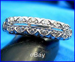 Diamond Eternity Anniversary ring Art Deco Vintage Antique Platinum Wedding band