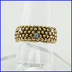 Diamond Eternity Ring 18K Gold Band Vintage Wedding Estate