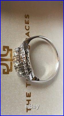 Diamond Ring Vintage Platinum Engagement / Wedding / Birthday / Anniversary