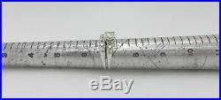 EGL Vintage 1/2CT Diamond Engagement Wedding Bridal Set Ring 14K White Gold