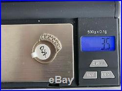 Estate Ring Vintage 14K White Gold Old MINE Diamond Wedding Band Ring Size 71/2