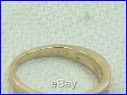 Estate Vintage 14K Yellow Gold Diamond Engagement or Wedding Band Ring 1/4 Carat