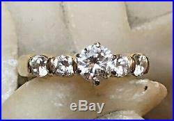 Estate Vintage 14k Gold Diamond Ring Engagement Wedding Appraisal Signed Nt