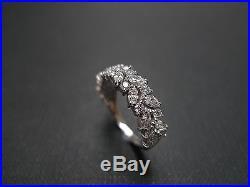 Estate Vintage Marquise Diamond Engagement Wedding Ring Set In 14k White Gold