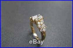 Estate Vintage Oval & Marquise Diamond Engagement Wedding Ring 14k Yellow Gold