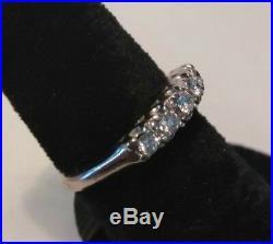 Estate Vintage Platinum Diamond Engagement Ring Wedding Band 4.3 Grams Size 5.5