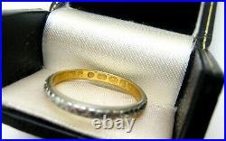 Finest Antique Deco 22k 14k Y&w Gold Orange Blossom Wedding Band 1921 English