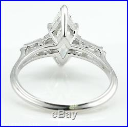 Gia 2.40ct Antique Vintage Deco Marquise Diamond Engagement Wedding Ring 14k Wg