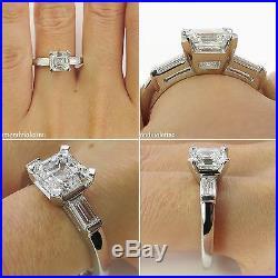 Gia 301ct Estate Vintage Asscher Cut Diamond Engagement Wedding