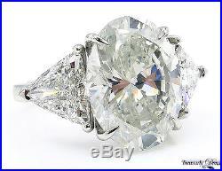 Gia 9.20ct Vintage Estate Oval Diamond Engagement Wedding Ring Platinum 3 Stone