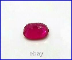 GRS Million Dollars worth 12.28 ct Burma Ruby 14 x 11 Oval High Luster Gemstone