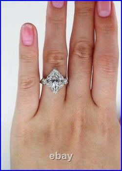 Gia 3.78ct Antique Art Deco Old Marquise Diamond Engagement Wedding Ring Plat