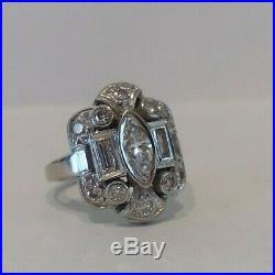 Gorgeous Antique Vintage Art Deco 14k Gold Diamond Ring Sz 5 Wedding Ring Estate