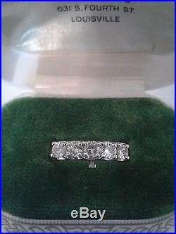 Gorgeous Vintage Diamond Wedding Ring Set 1 1/2 Carat