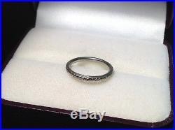 Lohengrin 18K White Gold ORANGE BLOSSOM RING Wedding Band VINTAGE