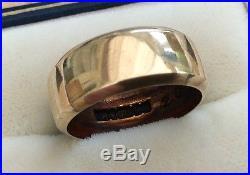 Lovely Ladies Vintage Full Hallmarked 9ct Gold Plain Wide Wedding Band Ring K1/2