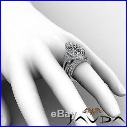 Marquise Diamond Vintage Engagement Bridal Set Ring GIA G SI1 14k White Gold 5ct