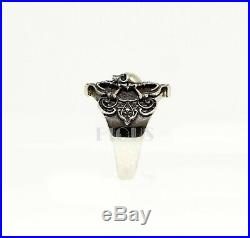 Pirate Skull 925 Silver Vintage Skull Biker rider wedding engagement Ring