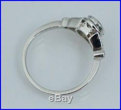 Platinum Art Deco. 66 ctw Diamond Engagement Ring Wedding Rose Cut Round Vintage