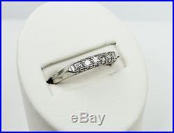 Platinum Diamond. 18ct Vintage Engagement/Wedding Band Ring 7-1/4