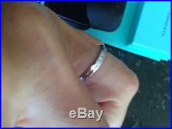 Platinum Tiffany & Co. Vintage Channel Set Diamond Wedding Band/Ring Size 4