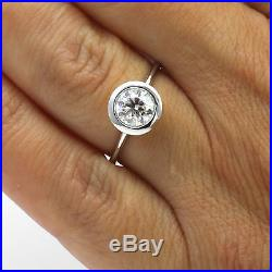 Round Brilliant Diamond Ring Women 1.59 Ct Wedding 14 Kt White Gold Vintage