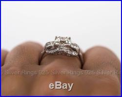 Rare Vintage Art Deco 1 Ct Diamond Engagement Wedding Retro Antique Ring 1935's