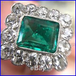 Rare Vintage Art Deco 2 Ct Diamond Engagement Wedding Retro Antique Ring 1935's