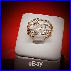 Rare vintage engagement diamond Gold Ring 7.5 Diamond Rings Wedding Rings Jewelr
