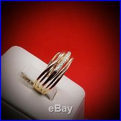 Rare vintage engagement diamond Gold Ring Diamond Rings Wedding Rings Jewelry Gi