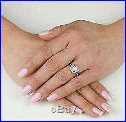 Retro Vintage Engagement Ring Wedding Ring 2Ct Asscher Diamond 14K White Gold Fn