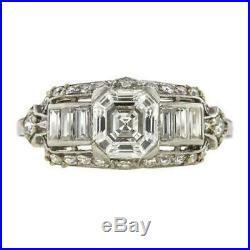 Retro Vintage Engagement Wedding Ring 2.82 Ct Round Diamond 14k White Gold Over