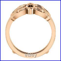 Ring Guard Wrap 14k Rose Gold Solitaire Enhancer Wedding Vintage Antique