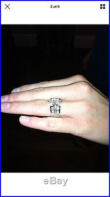 Stunning Custom Made Vintage Platinum Natural Diamond Engagement/ Wedding Ring