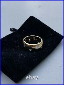 Tiffany & Co Etoile 18K Platinum Gold Diamond Vintage Ring Wedding Band Size 6.5