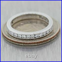 Tiffany & Co. Vintage Estate Platinum 0.65ctw Diamond Eternity Wedding Band Ring
